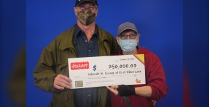 Another big lottery win in northern Ontario, a couple from Elliot Lake won $250,000 playing an instant lottery scratch ticket.