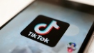 This Monday, Sept. 28, 2020, file photo, shows as logo of a smartphone app TikTok on a user post on a smartphone screen in Tokyo. (AP Photo/Kiichiro Sato, File)
