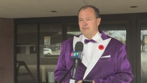 Children's Aid Societies across Ontario participated in a Wear Purple campaign to raise awareness for children, youth and families who need extra support