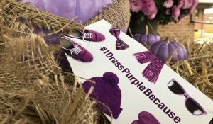 Children's Aid Societies across Ontario participated in Dress Purple Day on Tuesday to raise awareness about the importance of supporting vulnerable children and families. (Alana Pickrell/CTV News)