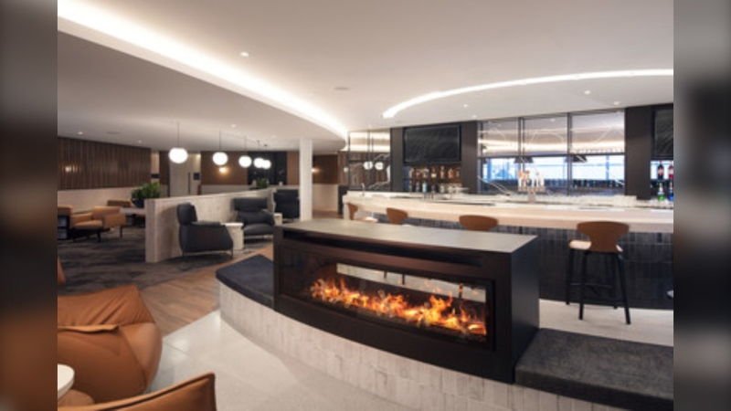 WestJet's flagship Elevation Lounge will open Tuesday in the Calgary International Airport.