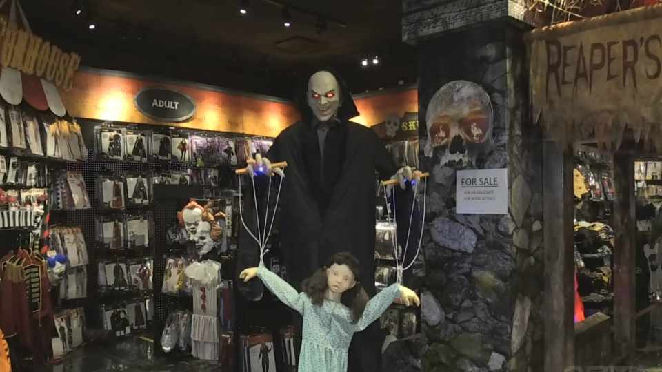 A display at Spirit Halloween in London, Ont. is seen Tuesday, Oct. 27, 2020. (Jim Knight / CTV News)