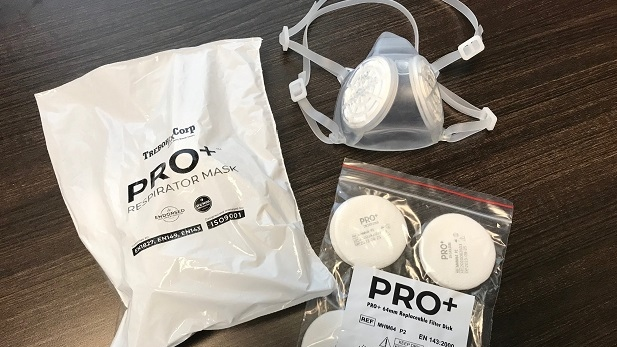 Trebor Rx, a manufacturing company in Collingwood, Ont., creates the first recyclable face mask. (Rob Cooper/CTV News)