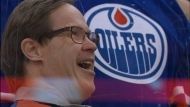 Joey Moss at an Edmonton Oilers game.
