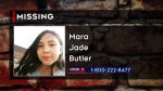 Calgary Police are looking for Mara Jade Butler after she was reported missing