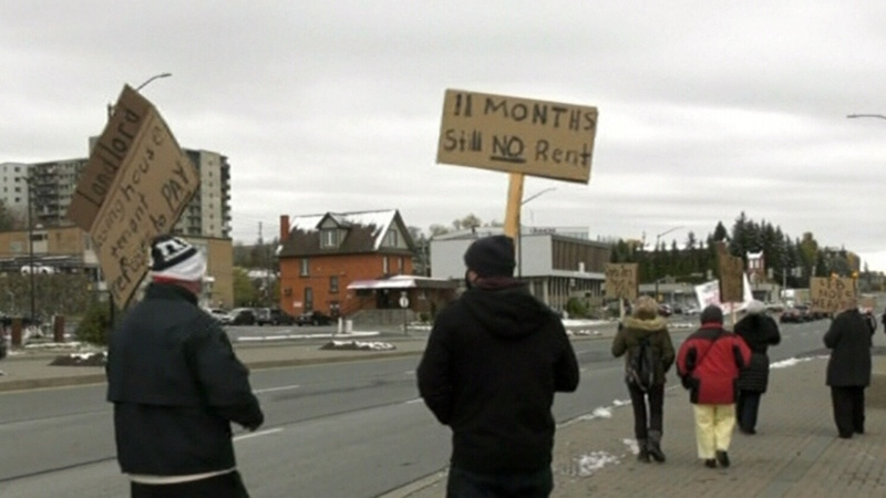 Sudbury landlords protest tribunal delays