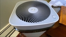 An air purifier can help clean the air at home.