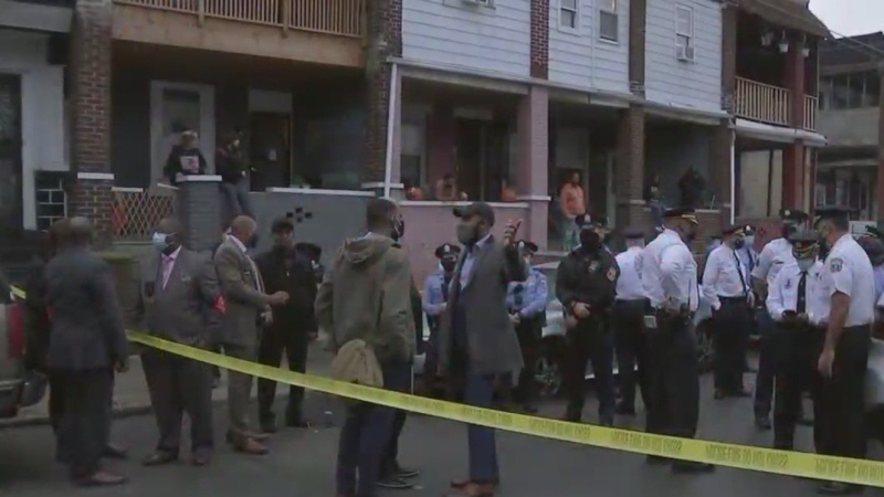Philadelphia police shot and killed a Black man who waved a knife while standing on a city street. (KYW/CNN)