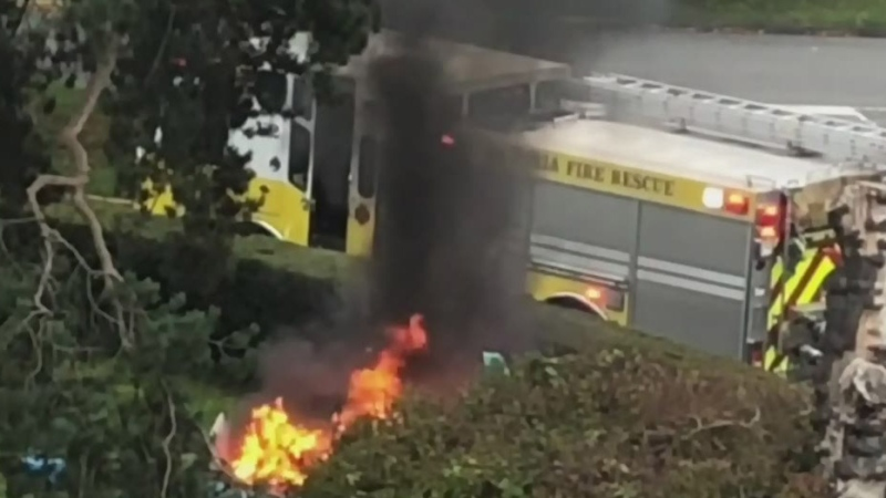 Tent fire contained at Beacon Hill Park