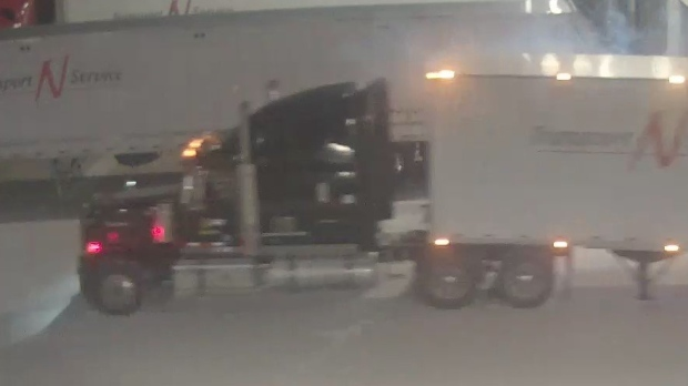 Police are looking for information about these trucks, which were found empty in Waterloo (Twitter: OPP_WR)