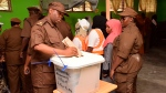 Tanzanian army personnel vote during early voting in Zanzibar, during Tanzania election Tuesday, Oct. 27, 2020. (AP Photo)