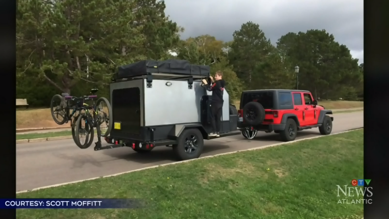 Scott Moffitt says building the camper was an opportunity to get his two young sons away from their devices and out of the house, in a setting where the whole family could be together.