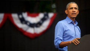 Obama offers blistering criticism of Trump over coronavirus: 'He's jealous of COVID's media coverage.' (Mark Makela/Getty Images)