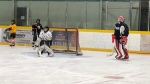 Sammy Guenther gives back with the Buck for s Puck campaign. (Angelo Aversa / CTV Windsor)