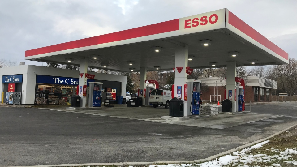 Esso on Lasalle Blvd. and Notre Dame Ave. in Sudbury. Oct. 28/20 (Molly Frommer/CTV Northern Ontario)