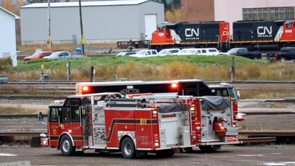 Emergency crews responded to the scene of a train derailment in the CN rail yard near Salisbury Road in Moncton on at 4:30 p.m. on Tuesday. (PHOTOS COURTESY: WADE PERRY)