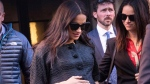Meghan, Duchess of Sussex, arrives for her baby shower at the Mark Hotel in New York, on  Feb. 19, 2019. (Kevin Hagen / AP)