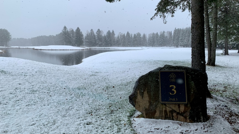 Those wanting to tee off will have to wait until the spring it looks as there is now snow in Mont Tremblant. SOURCE: Gary Yee