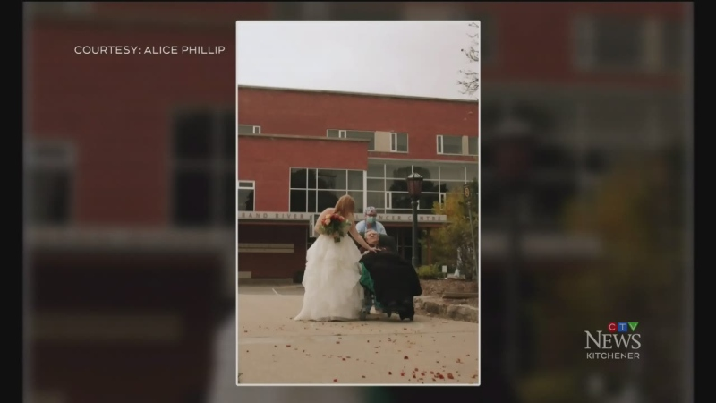 Couple celebrates wedding with help from ICU staff