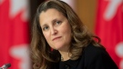 Deputy Prime Minister and Minister of Finance Chrystia Freeland is seen during a news conference Tuesday October 20, 2020 in Ottawa. THE CANADIAN PRESS/Adrian Wyld