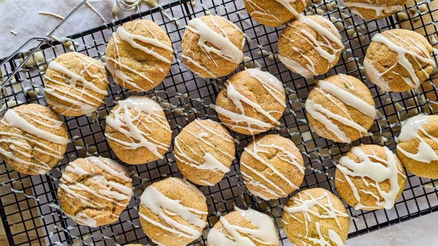 Dangerously good pumpkin cookies with maple drizzle. (CJ Katz)