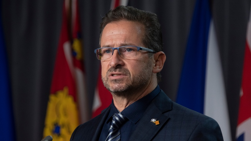 Bloc leader Yves-Francois Blanchet speaks during a news conference in Ottawa, Wednesday October 28, 2020. THE CANADIAN PRESS/Adrian Wyld