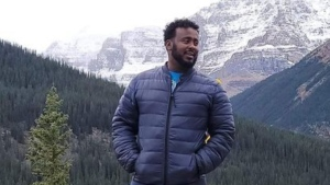 Samatar Sahal, 40, was killed in a workplace accident at the Trans Mountain pipeline site in west Edmonton on Oct. 27, 2020. (Supplied)