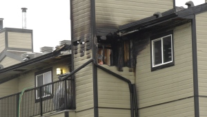 Mill Woods apartment fire. Oct. 27, 2020. (CTV News Edmonton)