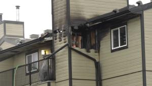 Mill Woods apartment fire. Oct. 27, 2020. (CTV News Edmonton)