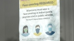 Calgary, face masks, sign, bylaw