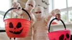 Kids in mummy costumes (Photo by Daisy Anderson from Pexels)