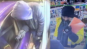 The OPP has linked the same suspect wanted in connection with two failed robberies in Gravenhurst on Oct. 25 to two ATM robberies in Orillia on Oct. 26, 2020. (Supplied)