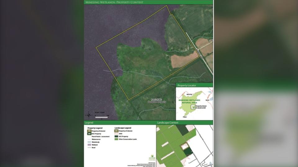 Minesing Wetlands map