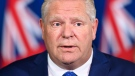 Ontario Premier Doug Ford holds a press conference regarding new restrictions at Queen's Park during the COVID-19 pandemic in Toronto on Friday, October 2, 2020. THE CANADIAN PRESS/Nathan Denette
