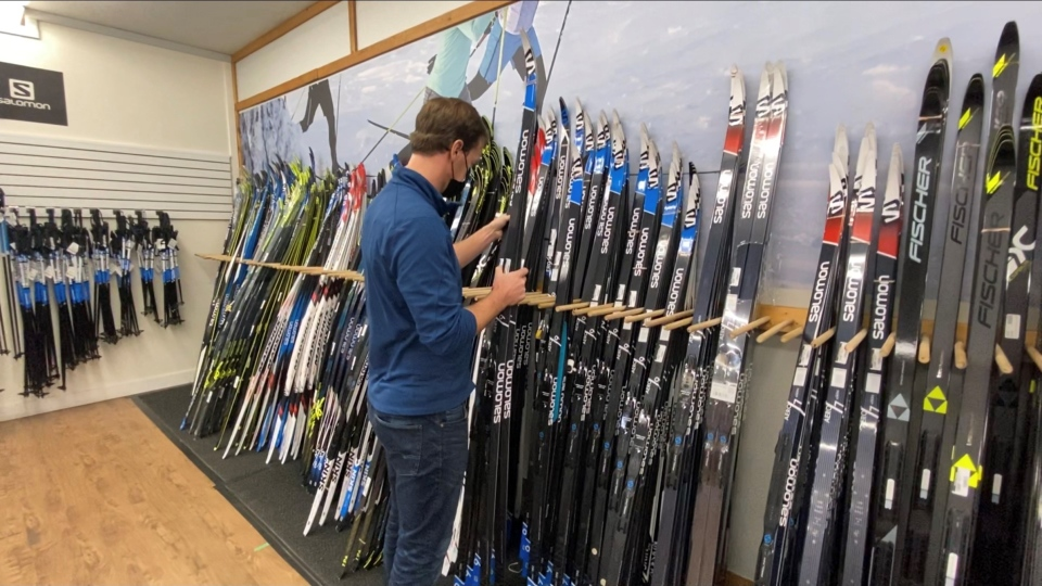 Fresh Air Experience owner Jon Digney is fast-tracking orders to keep skis in stock. October 28, 2020. Ottawa, ON. (Tyler Fleming/CTV News Ottawa)