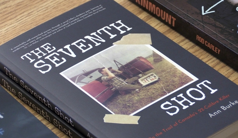 One of Latitude 46's offerings this fall is Ann Burke's debut novel 'The Seventh Shot: On the Trail of Canada's .22-Calibre Killer,' telling the story of Ronald West, an infamous Canadian murderer with ties to the north. (Dana Roberts/CTV News)