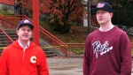 Jonathan Anderson and Garrett Clump celebrate Calgary's history with a line of clothing emblazened with the names of past teams and Calgary landmarks