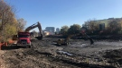 Construction at Silver Lake (Dan Lauckner / CTV News Kitchener)