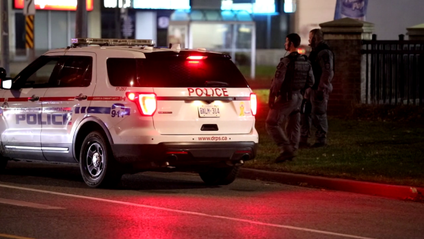 Durham police are searching for a suspect who fled a collision in Courtice.