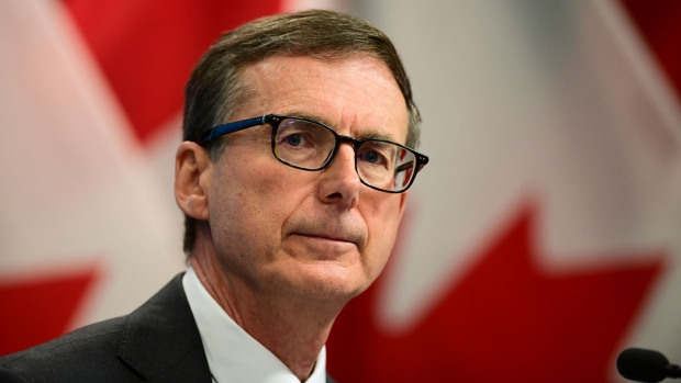 Governor of the Bank of Canada Tiff Macklem holds a press conference at the Bank Of Canada in Ottawa on Wednesday, Oct. 28, 2020. THE CANADIAN PRESS/Sean Kilpatrick