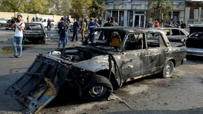 Karabakh's main city Stepanakert has been hit by increased artillery fire in recent days. (AFP)