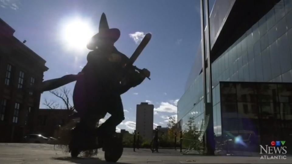The man known as Nova Scotia's 'mad inventor' has a new trick up his sleeve, which is turning heads on downtown Halifax streets just in time for Halloween.