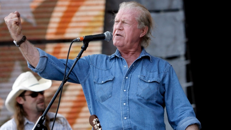 Billy Joe Shaver performs at Farm Aid on Randall's Island in New York on Sept. 9, 2007. (Jason DeCrow / AP)