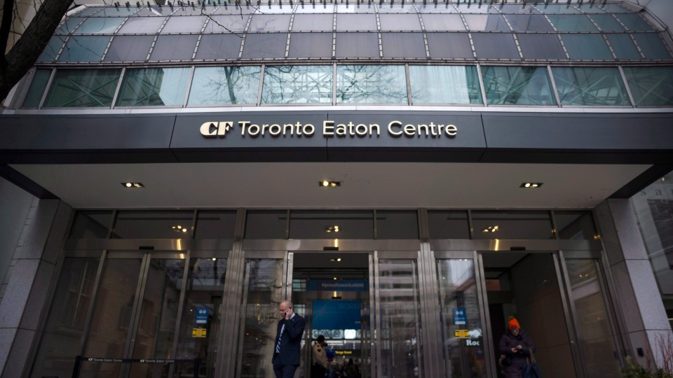The Eaton Centre in Toronto is photographed on Thursday, March 1, 2018.  THE CANADIAN PRESS/Christopher Katsarov