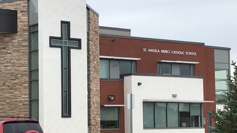 St. Angela Merici Catholic School in Barrie, Ontario. (Jim Holmes/CTV News)