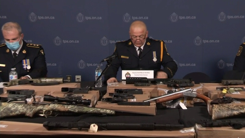 Police detail seizure of $150M, guns, during bust