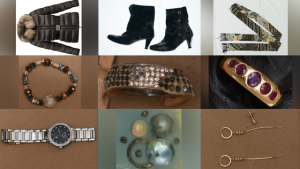 York Regional Police Homicide investigators released these images of clothing and jewelry worn by a woman who was found dead in Lake Simcoe in Georgina, Ont., on Aug. 29, 2020. (Supplied)