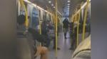 Apparent argument over face masks on transit