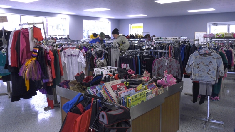 Serendipity Thrift Store in Yorkton is looking for support from the community to survive the effects of COVID-19. (Kaylyn Whibbs/CTV News)