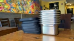 'Suppli' reusable containers are seen in this photograph. (Scott Lightfoot/CTV News Toronto)